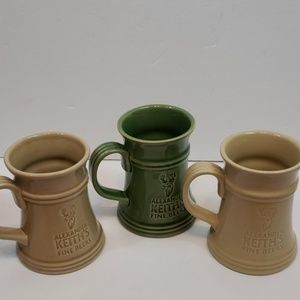 Set of 3 Keith's Stoneware Beer Steins